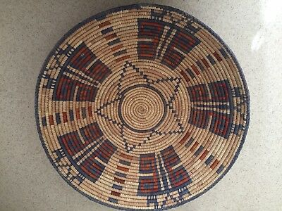 Indian? African? Basket Tri-colored Hand Woven