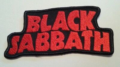 """Black Sabbath Patch~Embroidered~Iron or Sew on~4 3/8"""" x 1 7/8""""~FREE US Mail"""