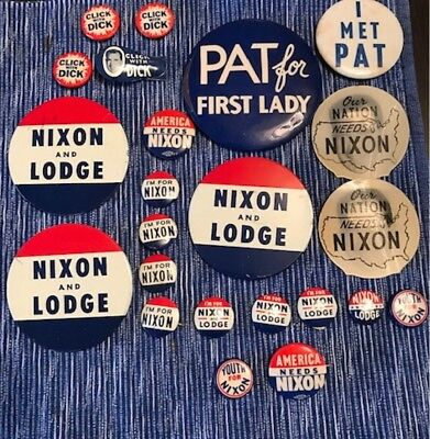 Collection of President Richard M. Nixon campaign buttons