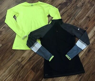 Lot of 2 Womens Nike Pro-fit Running Athletic Tennis Gym Yoga Shirts Size Large