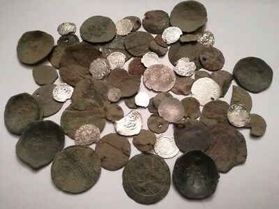 Lot of 60 medieval 12-17 century huge coins (Hungary,Byzantine,Germany,Ottoman)