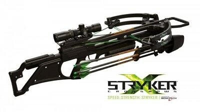 Stryker Crossbows Katana 385FPS  Black Suppressor Crossbow Package  NEW