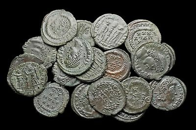 Nice quality lot of 20 uncleaned late Roman bronze coins