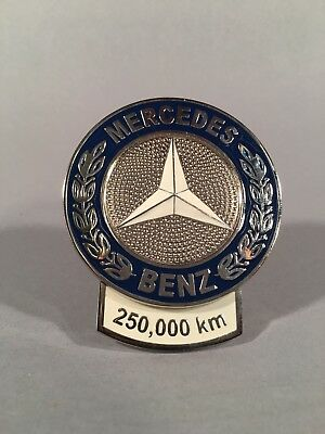 Vintage Mercedes Benz 250,000 Km High Milage Award Grille Badge