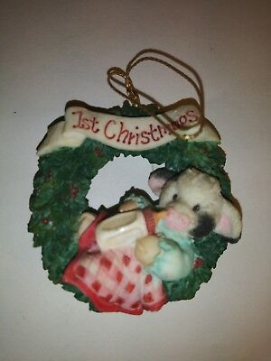 Mary's Moo Moos ~ Babies First Christmas~ Christmas Hanging Ornament Figurine