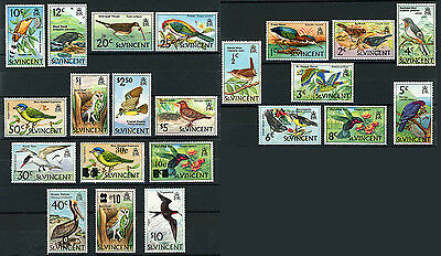 St.Vincent Bird Stamps Scott # 279 - 294, 364 - 366, 379 - 381 Mint MNH 22 Pcs.