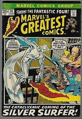 Marvel's Greatest Comics #35 1st Silver Surfer reprint Marvel 1972 (FN) Bronze