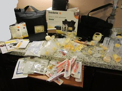 2 breast pumps Medela Free Style & In Style Advance Double bags tons of extras