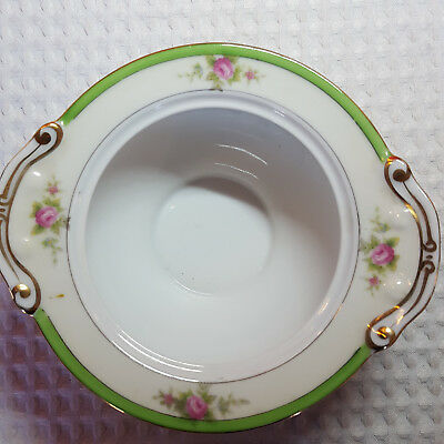 Vintage 1940's Grace China Sugar Bowl WITHOUT LID Made in Japan Delicate Floral