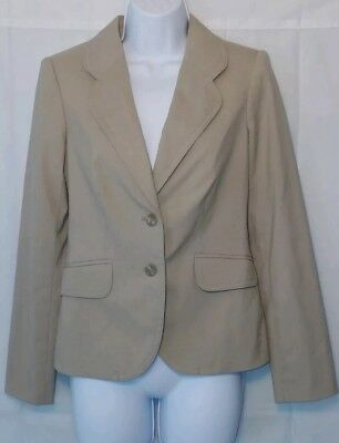 The Limited Collection Women's  Blazer Jacket Size 8 Tan Beige Two Button Career