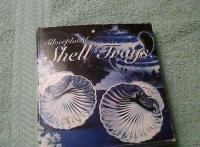 Vintage 2 Silver plated Shell Trays - Old Hampshire Silversmiths-NIB