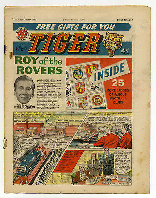 Tiger 1st Oct 1960 (Olac the Gladiator, Roy of the Rovers, Jet-Ace Logan)