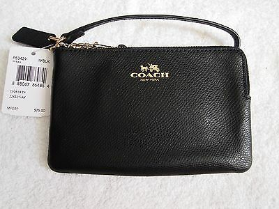 Authentic Coach Small Black Wristlet