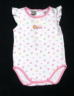 DYMPLE baby girls summer romper s 00 white pink  / fruit babies clothes FREE P&H
