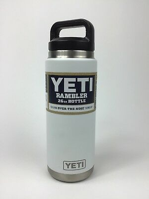 YETI Rambler 26 oz Bottle featuring Over-the-Nose technology new, white BPA free