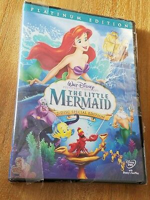 The Little Mermaid (DVD, 2006, 2-Disc Set, Platinum Edition) Buena Vista Stamp