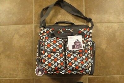 10ad2a2d01 NEW Baby Boom Multi Geo Tote Diaper Bag 8 Pockets Compartments Changing Pad