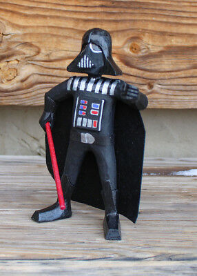 "NAVAJO FOLK ART-STAR WARS ""DARTH VADER"" by VIRGIL WOOD-NATIVE AMERICAN"