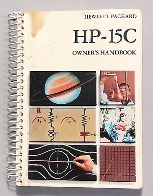 Vintage Owner's Manual For HP-15C Scientific Calculator