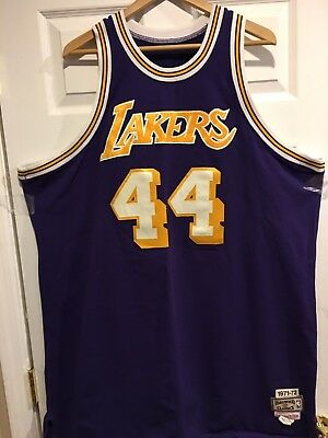 77b4fd97cbf Jerry West Jersey #44 Los Angeles Lakers NBA Finals 1971-72 SZ 56 Purple