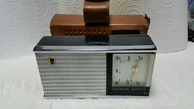 Channel Master 6-transistor Deluxe all-wave radio leather case Model 6506 free s