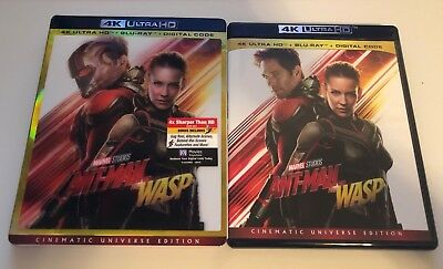 Ant-Man and the Wasp (4K Ultra HD + 2D Blu-Ray Disc Set w/Slipcover) - LIKE NEW