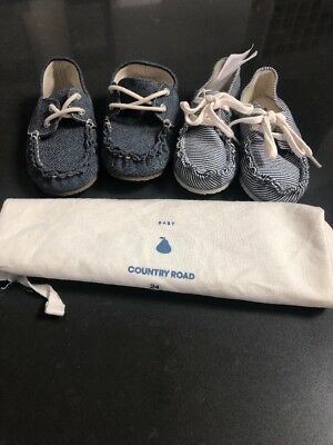 Boys Country Road Loafers Size 24 (2 Pairs) Brand New