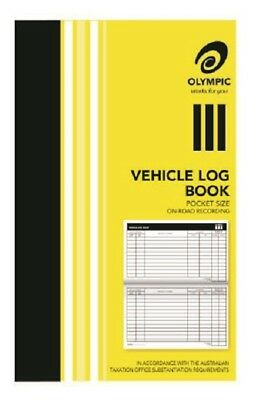 1 x Olympic Vehicle Log Journal 180 x 110mm 64P ATO compliant in stock (A)