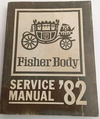 Vintage 1982 Fisher Body Service Manual  RARE