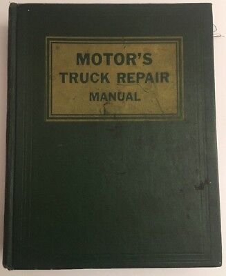 Vintage Antique 1966 Motor's Truck Repair Manual - 19th Edition First Print RARE
