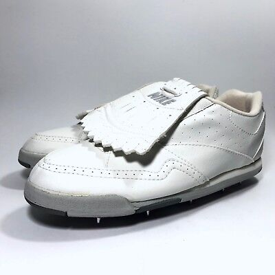 172f760d2ca Vintage Nike Golf Shoes Cleats Metal Spikes White Kiltie Fringe Womens SZ  10 NEW