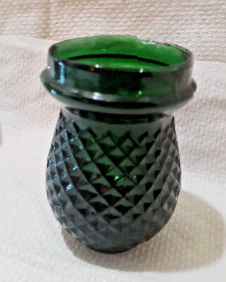 Antique 1800's Victorian Christmas Tree FAIRY LAMP Light Candle Cup DARK GREEN