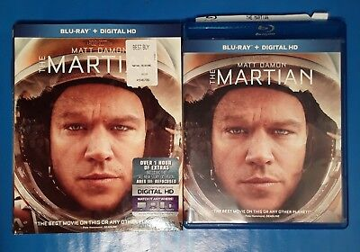 The Martian Blu-ray Disc 2016 with Matt Damon and Jessica Michelle Chastain