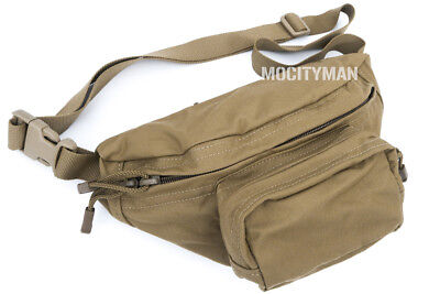 TAG Military Compact Fanny Butt Waist Pack ERB Bag Coyote - 3 Pockets - USA Made