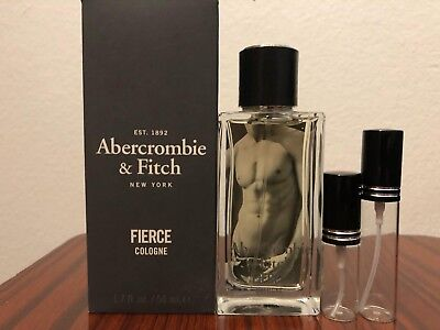 Fierce by Abercrombie & Fitch Glass Spray Travel SAMPLE 5ml 10ml 30ml Free Ship