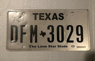 Texas License Plate Lone Star State