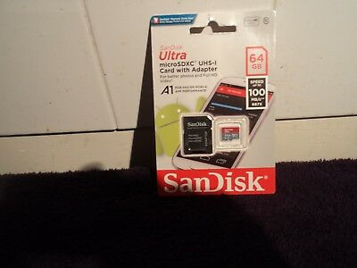 SanDisk Ultra 64GB Micro SD Memory Card Class 10 SDXC 100MB/s Adapter UHS-I UK