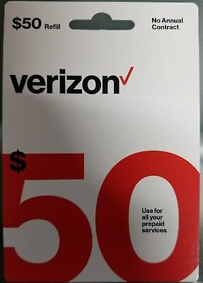 $50 Verizon Prepaid Refill Card