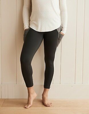 722c08f0c71c8 American Eagle Aerie Move High Waisted Pocket 7/8 Legging Black/Gray