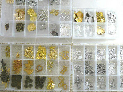 Bulk Quality Silver & Gold Plated Jewellery Jewelry Findings Charms FREE POST!!