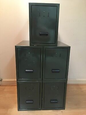 Filing -cabinets Draws  Army Green  X5