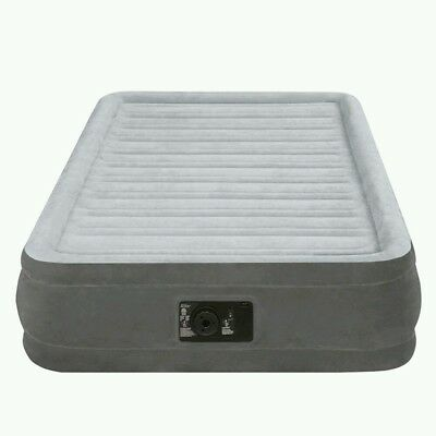 Intex Inflatable Airbed Twin Size Built In Electric Pump Air Mattress Bed