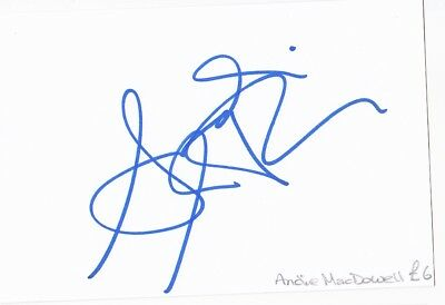 Andie MacDowell signed autograph