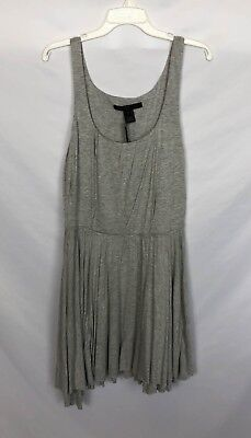 NWT Marc by Marc Jacobs Pleated Heather Gray Dress L
