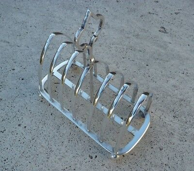 Antique Victorian Silverplate Toast Rack