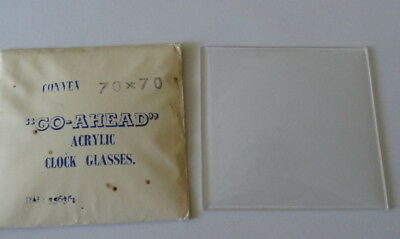 Vintage Replacement Clock Glass - Perspex (NOS),