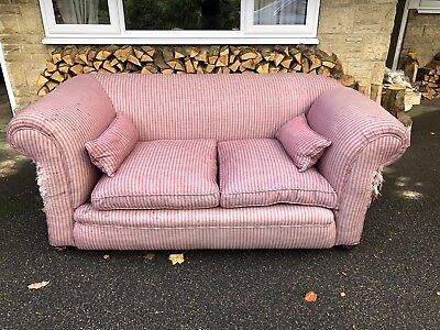 Victorian Era Chesterfield Two Seat Drop Arm Sofa. NO RESERVE!!