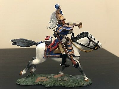 NA043 Napoleonic Mounted French Dragoon Bugler Mint In Box NA 43