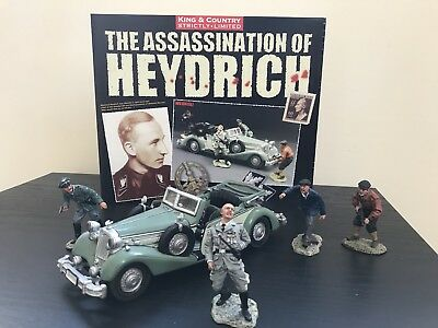 WS104sl RARE WW2 German Assassination Of Heydrich Limited Ed French Resistance