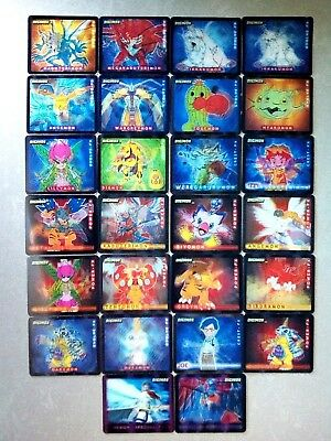 Digimon 3D 26 Different Action Cards - Evolve/power/crest/armour/special + Album